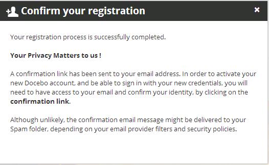 end user - confirmation link